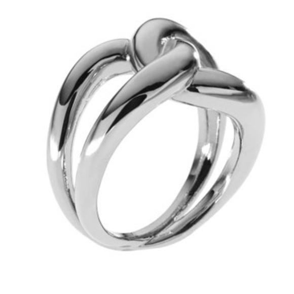 Michael Kors Silvertone Love Knot Ring